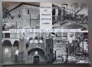 1965 ca BASELICE (BN) Castello - Palazzo Lembo *Bozzetto per cartolina 42x30