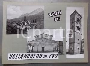 1965 ca. CASOLA - UGLIANCALDO Chiesa S. Andrea *Bozzetto per cartolina 35x25 cm
