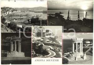 1960 ca ANCONA Monumento ai Caduti - Il porto - Bozzetto per cartolina 30x21 cm