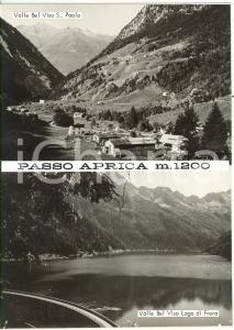 1965 ca VAL BELVISO PASSO APRICA Diga di Frera *Bozzetto per cartolina 15x21 cm