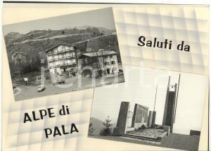 1970 ca ALPE PALA Vedutine - Memoriale degli Alpini *Bozzetto per cartolina 28x20