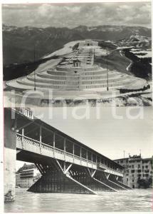 1965 ca BASSANO DEL GRAPPA Ponte Vecchio / Sacrario Monte Grappa *Bozzetto