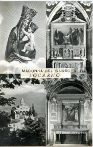 1970 ca LOCARNO Santuario della Madonna del Sasso *Bozzetto cartolina 18x28