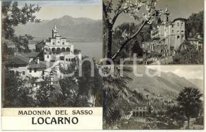 1965 ca LOCARNO Santuario della Madonna del Sasso ^Bozzetto per cartolina 28x18