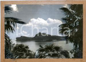 1970 ca LAGO DI GARDA La Rocca di Manerba *Bozzetto per cartolina 28x20 cm