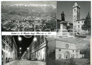 1970 ca L'AQUILA Piazza del Palazzo - Vedutine *Bozzetto per cartolina 22x16 cm