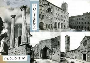 1965 ca VOLTERRA Piazza dei Priori - Vedutine *Bozzetto per cartolina 30x21 cm