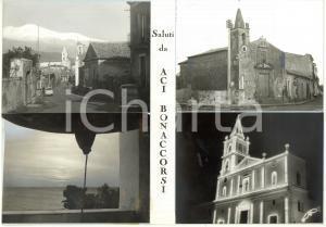 1965 ca ACI BONACCORSI Chiesa Sant'Antonio Abate - Bozzetto per cartolina 30x21