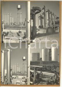 1965 ca CORTEMAGGIORE Raffineria AGIP / PADOVA *Bozzetto doppio cartolina 30x21