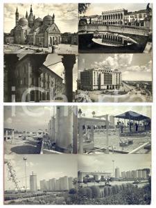 1965 ca CORTEMAGGIORE Raffineria AGIP / PADOVA *Doppio bozzetto cartolina 29x21