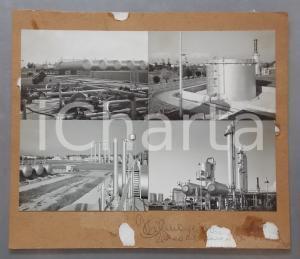 1965 ca CORTEMAGGIORE Impianto di degasolinaggio AGIP *Bozzetto cartolina 31x27