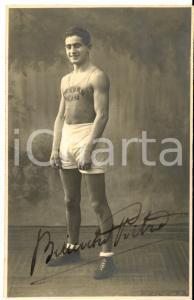 1925 ca MILANO PUGILATO Pietro BIANCHI - Sport Club VOLTA - Foto con AUTOGRAFO