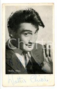 1950 ca COSTUME Ritratto di Walter CHIARI - Foto seriale con AUTOGRAFO 10x15 cm