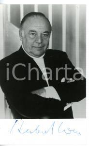 1985 ca CINEMA Attore Herbert LOM - Fotografia seriale con AUTOGRAFO 10x15 cm