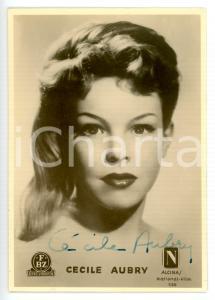 1950 ca CINEMA Attrice Cécile AUBRY - Foto seriale con AUTOGRAFO 9x12 cm