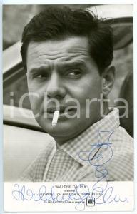 1962 CINEMA Walter GILLER - Ritratto con sigaretta *Foto seriale con AUTOGRAFO