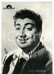 1965 ca MUSICA Gino BRAMIERI - Ritratto *Fotocartolina POLYDOR con AUTOGRAFO