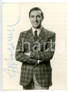 1965 ca COSTUME Pippo BAUDO - Ritratto *Foto seriale EQUIPE DISCHI con AUTOGRAFO