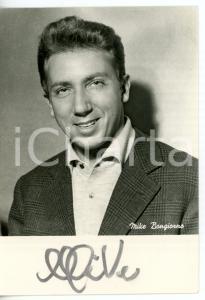 1955 ca COSTUME Mike BONGIORNO sponsor L'OREAL Fotocartolina con AUTOGRAFO 10x15