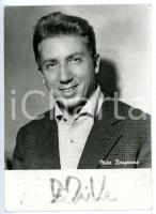 1955 ca COSTUME Mike BONGIORNO sponsor L'OREAL - Fotocartolina con AUTOGRAFO