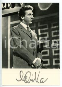 1957 TUTTI PER UNO Mike BONGIORNO sponsor L'OREAL *Fotocartolina con AUTOGRAFO