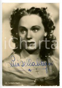 1940 ca CINEMA Attrice Luisella BEGHI *Fotocartolina ASER con AUTOGRAFO 10x15 cm