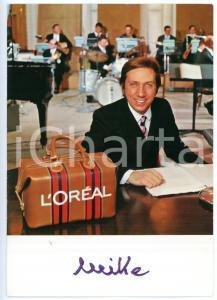 1965 ca COSTUME Mike BONGIORNO sponsor L'OREAL - Fotografia con AUTOGRAFO 11x15