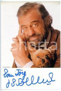 1990 ca CINEMA Jean-Paul BELMONDO - Ritratto *Foto seriale con AUTOGRAFO 10x15