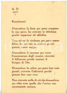 1958 BERGAMO Carlo LUPO - Preghiera