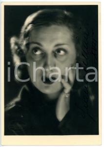 1939 CINEMA Attrice Giana CELLINI *Fotografia seriale con AUTOGRAFO 12x17 cm