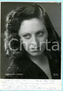 1945 MODENA LIRICA Soprano Margherita CAROSIO *Foto seriale con AUTOGRAFO 18x25