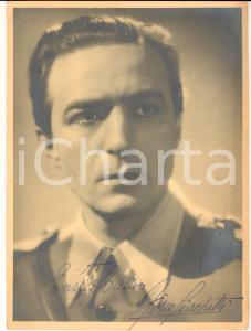 1940 ca CINEMA Attore Fosco GIACHETTI *Foto seriale con AUTOGRAFO 18x24 cm