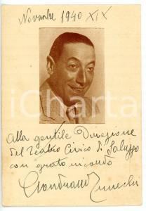 1940 TEATRO Attore Gondrano TRUCCHI - Cartolina con AUTOGRAFO 10x15 cm