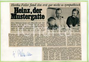 1950 ca CINEMA Heinz RUHMANN in famiglia - Collage *AUTOGRAFO su cartoncino
