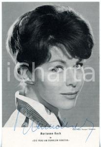 1960 CINEMA Attrice Marianne KOCH - Ritratto *Fotografia seriale con AUTOGRAFO