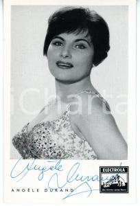 1960 MUSICA Cantante Angèle DURAND *Foto seriale ELECTROLA con AUTOGRAFO