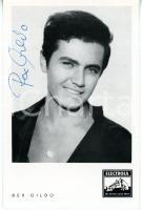 1960 MUSICA Cantante Rex GILDO *Foto seriale ELECTROLA con AUTOGRAFO 9x14 cm