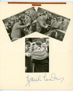 1960 MUSICA Zarah LEANDER - Collage foto - AUTOGRAFO su cartoncino 20x24