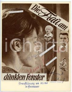 1960 Marianne KOCH Christiane NIELSEN Heinz DRACHE Robert GRAF - SIGNED collage