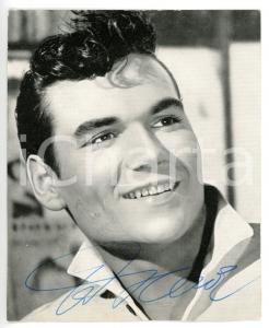 1960 MUSICA Cantante Ted HEROLD *Foto seriale con AUTOGRAFO