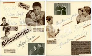 1960 CINEMA Marisa MELL - Walter WILZ - Cordula TRANTOW *SIGNED collage 19x24 cm