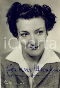 1950 CINEMA Attrice Fanny MARCHIO' - Foto seriale con AUTOGRAFO 9x14 cm