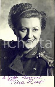 1950 ca CINEMA Attrice Pina RENZI - Fotocartolina seriale con AUTOGRAFO 9x14 cm