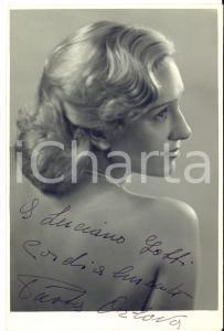 1950 TEATRO Attrice Paola ORLOVA - Foto seriale con AUTOGRAFO 11x16 cm