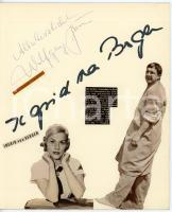 1960 CINEMA Ingrid VAN BERGEN - Wofgang GRUNER *Collage con AUTOGRAFO
