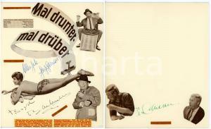 1960 CINEMA Gardy GRANASS - Boyd BACHMANN - Peter CARSTEN *Collage con AUTOGRAFI