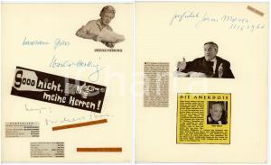 1960 CINEMA Ursula HERKING Michael BURK Hans MOSER *Collage con AUTOGRAFI 20x24
