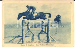1920 ca REGIO ESERCITO Scuola Cavalleria - Cap. ODETTI DI MARCORENGO Cartolina