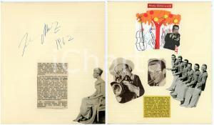 1962 CINEMA Attrice Johanna MATZ *Collage VINTAGE con AUTOGRAFO 20x24 cm