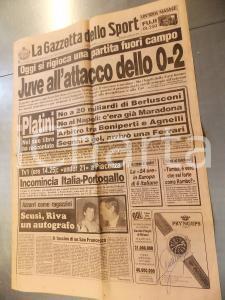 1987 LA GAZZETTA DELLO SPORT - Giornale con autografo Francesco MOSER - n° 284